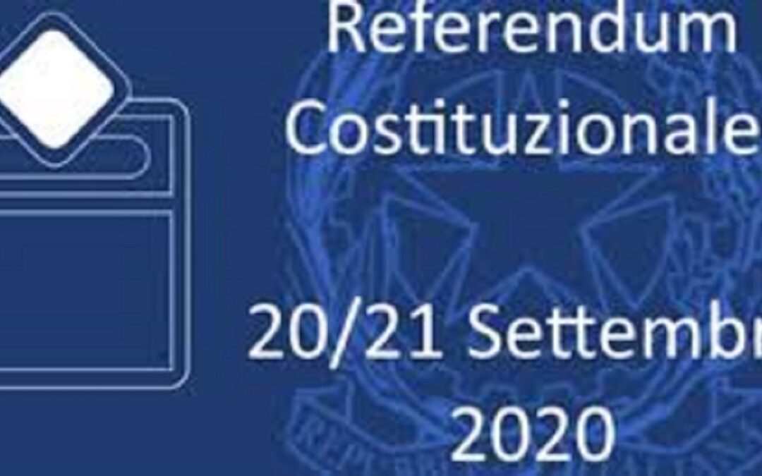 Consultazioni Referendarie e Regionali del 20 e 21 settembre 2020