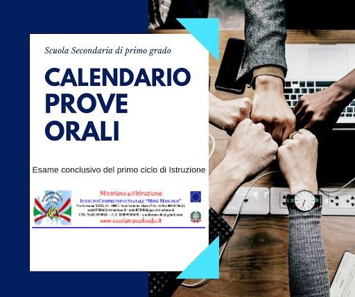 Esami Terza Media: Calendario Esami Orali