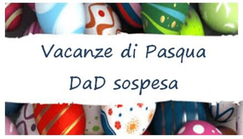 Sospensione attività didattiche per festività Pasquali